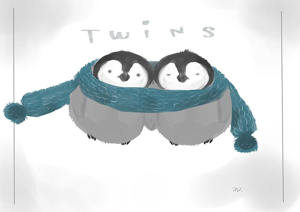 双子のぺんぎんちゃん
