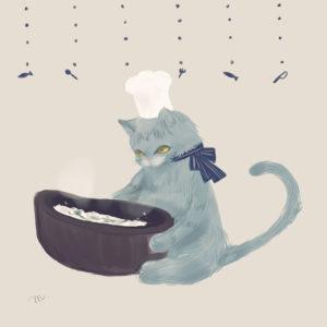 猫×七草粥